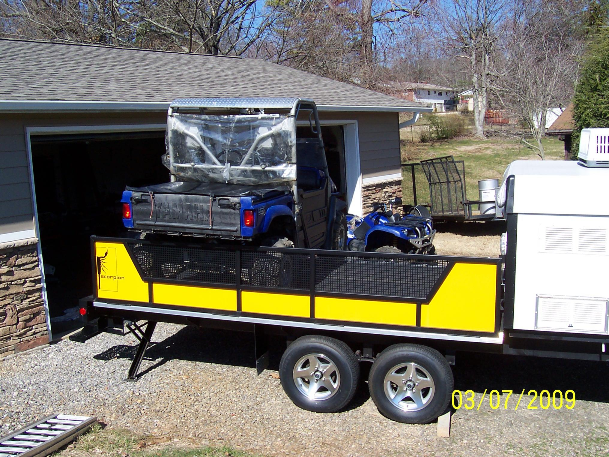 Fleetwood Scorpion S1 Toy Hauler Camper Yamaha Rhino