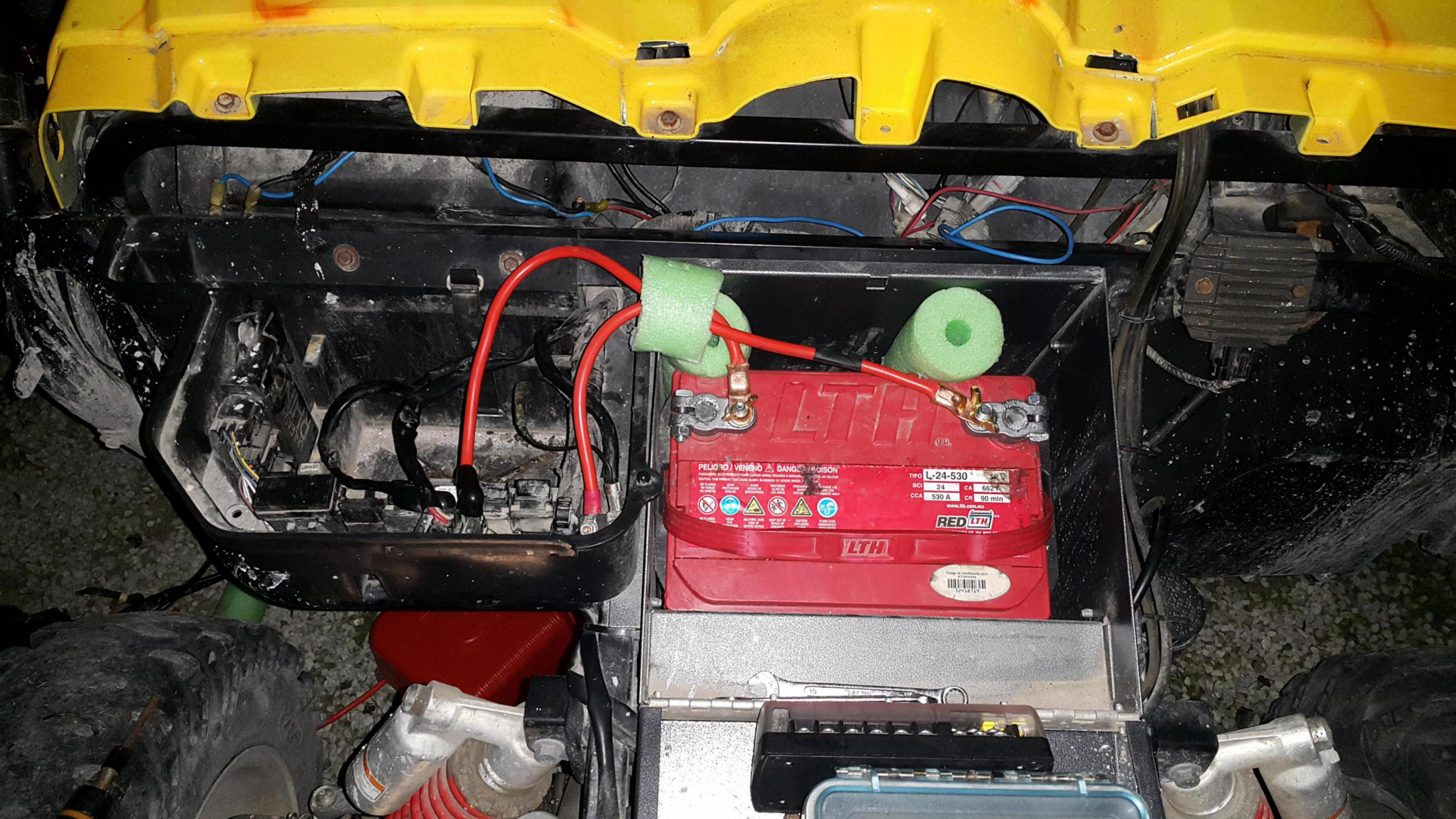 Bigger battery install - Yamaha Rhino Forum - Rhino Forums net