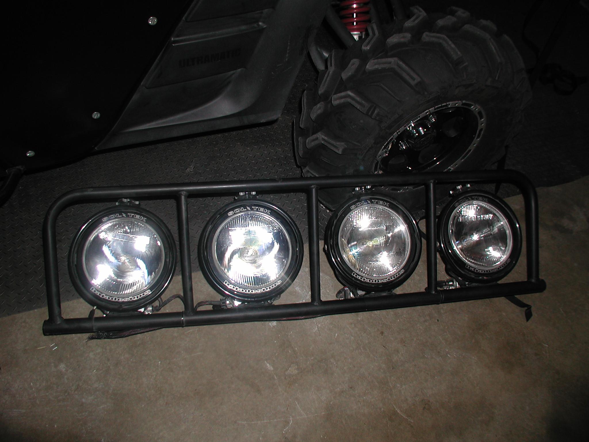 8 Quot Baja Design Hid Lights With Light Bar Yamaha Rhino